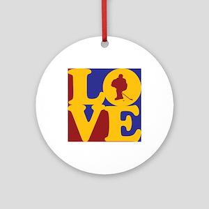 Hockey Love Ornament (Round)