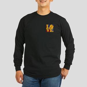 Harmonica Love Long Sleeve Dark T-Shirt