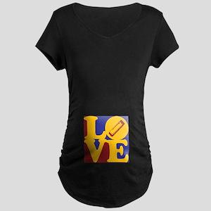 Harmonica Love Maternity Dark T-Shirt