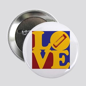 """Harmonica Love 2.25"""" Button"""