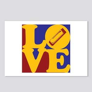 Harmonica Love Postcards (Package of 8)