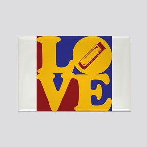 Harmonica Love Rectangle Magnet