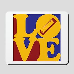 Harmonica Love Mousepad