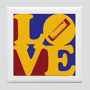 Harmonica Love Tile Coaster