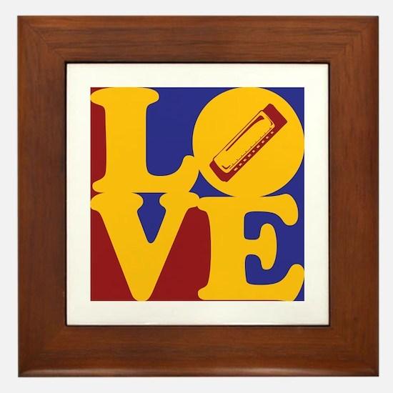 Harmonica Love Framed Tile