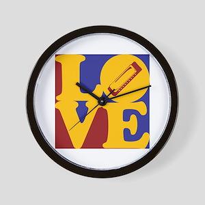 Harmonica Love Wall Clock