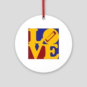 Harmonica Love Ornament (Round)