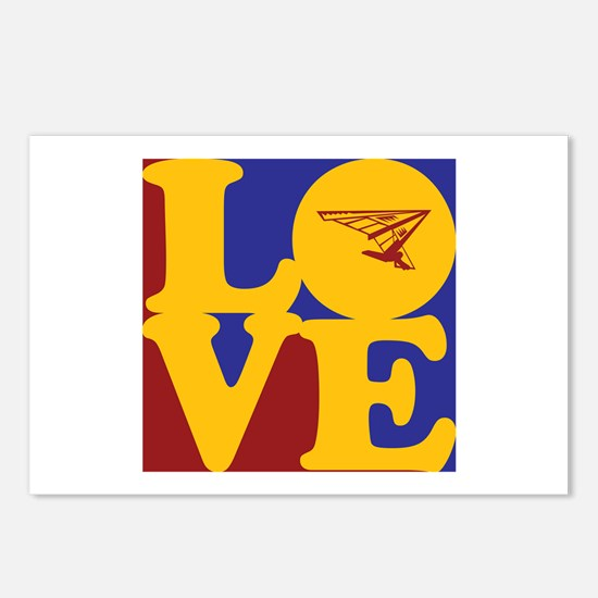 Hang Gliding Love Postcards (Package of 8)