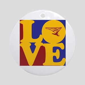Hang Gliding Love Ornament (Round)
