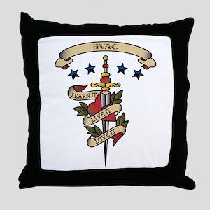 Love HVAC Throw Pillow