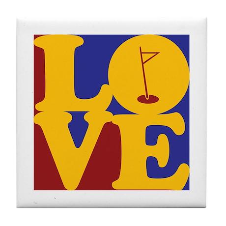 Golf Love Tile Coaster