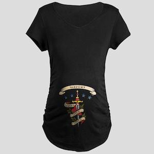 Love History Maternity Dark T-Shirt