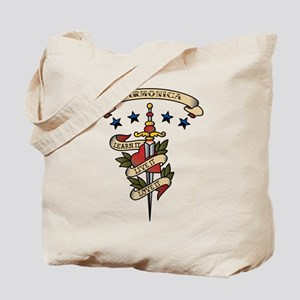 Love Harmonica Tote Bag