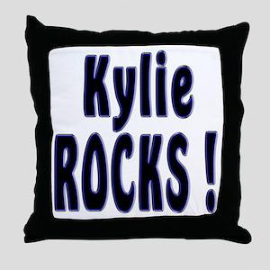 Kylie Rocks ! Throw Pillow