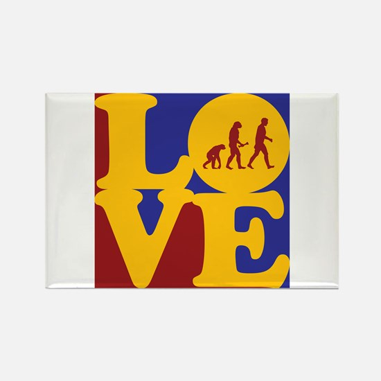 Evolutionary Biology Love Rectangle Magnet
