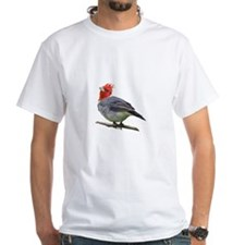 Red Crested Cardinal White T-Shirt