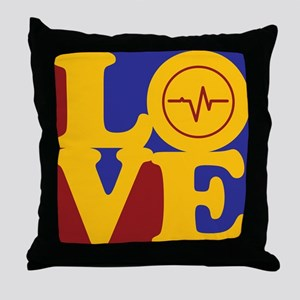 EEG Love Throw Pillow