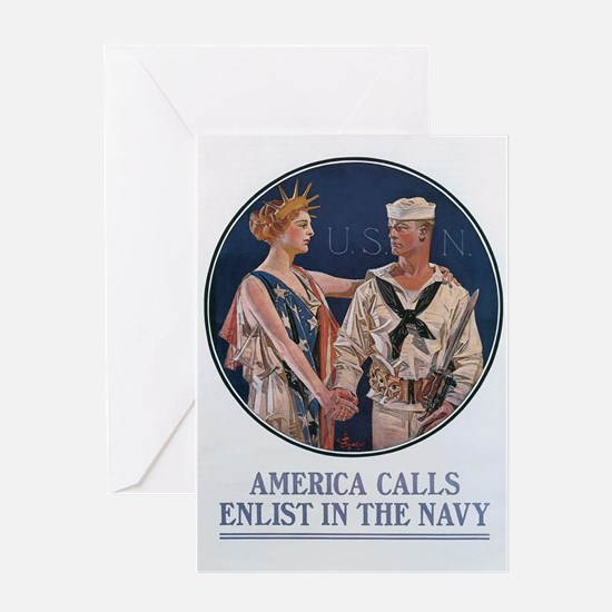 US Navy Poster Greeting Card