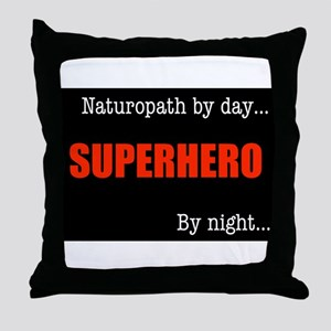 Superhero Naturopath Throw Pillow