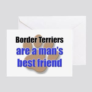 Border Terriers man's best friend Greeting Cards (