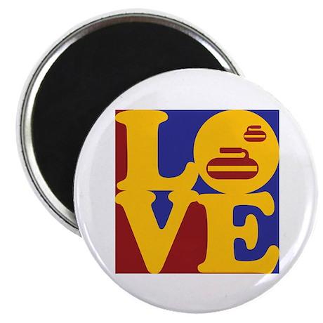 """Curling Love 2.25"""" Magnet (10 pack)"""