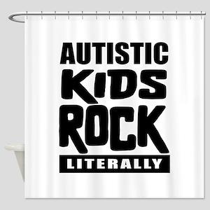 Autistic Kids Rock Shower Curtain