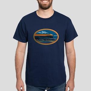 Train Art Dark T-Shirt