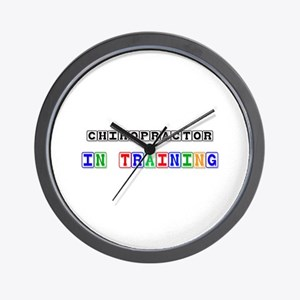 Chiropractor In Training Wall Clock