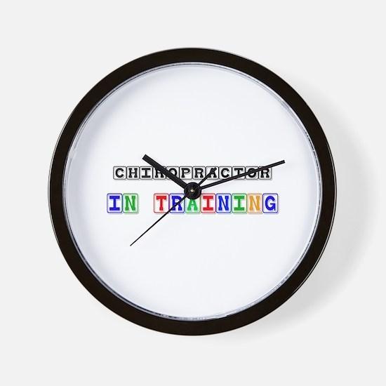 Chiropractor In Training Wall Clock
