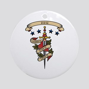 Love EEG Ornament (Round)
