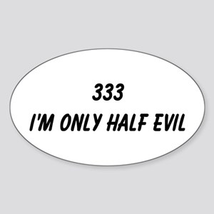 333 Oval Sticker
