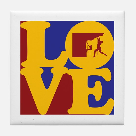 Climbing Love Tile Coaster
