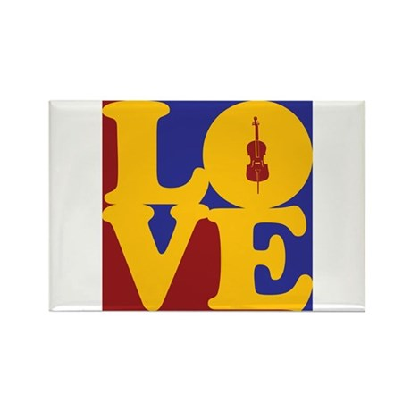 Cello Love Rectangle Magnet (100 pack)
