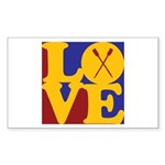 Canoeing Love Rectangle Sticker