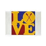 Canoeing Love Rectangle Magnet (100 pack)
