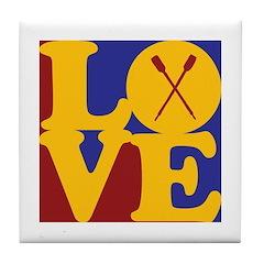 Canoeing Love Tile Coaster