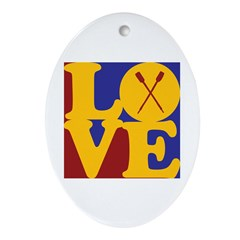Canoeing Love Oval Ornament