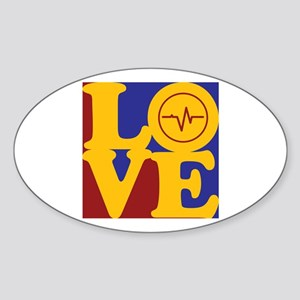 Biomedical Engineering Love Oval Sticker