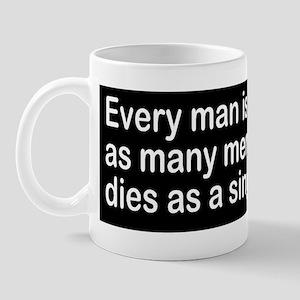 Heidegger: Every man is born  Mug