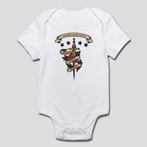 Love Cross-stitching Infant Bodysuit