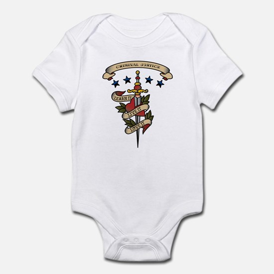 Love Criminal Justice Infant Bodysuit