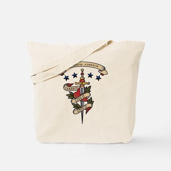 Love Criminal Justice Tote Bag