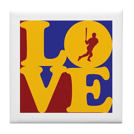 Baseball Love Tile Coaster
