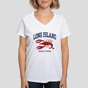 Long Island New York Women's V-Neck T-Shirt