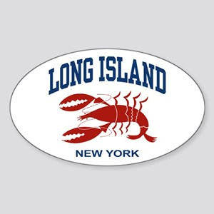 Long Island New York Oval Sticker