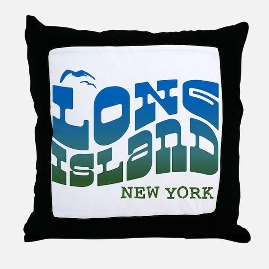 Long Island New York Throw Pillow