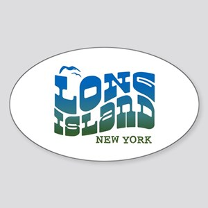 Long Island New York Oval Sticker