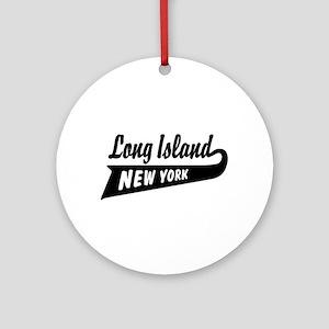 Long Island New York Ornament (Round)