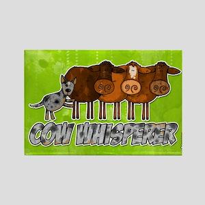 cow whisperer blue heeler Rectangle Magnet