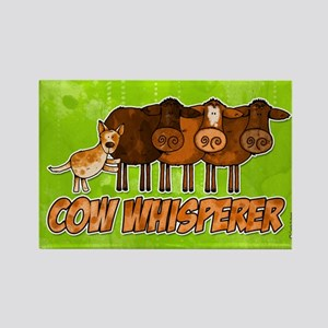 cow whisperer red heeler Rectangle Magnet